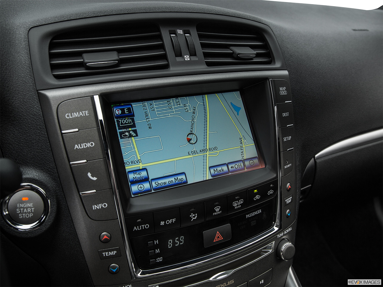 2015 Lexus IS C IS250 RWD Driver position view of navigation system.