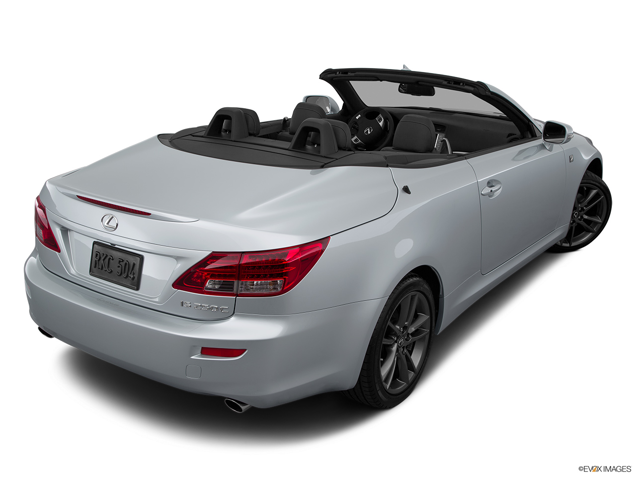 2015 Lexus IS C IS250 RWD Rear 3/4 angle view.