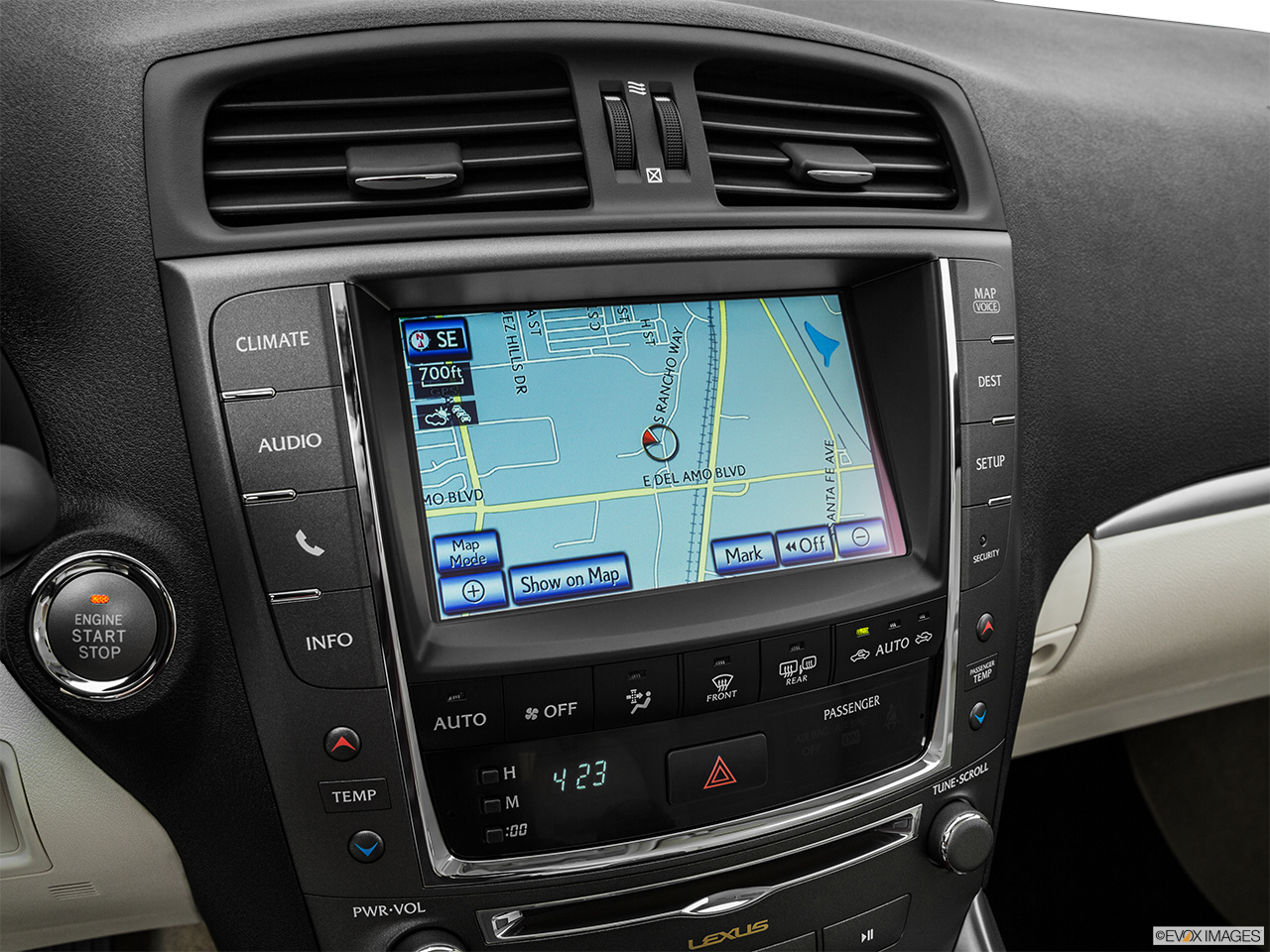 2015 Lexus IS C IS 350 Driver position view of navigation system.