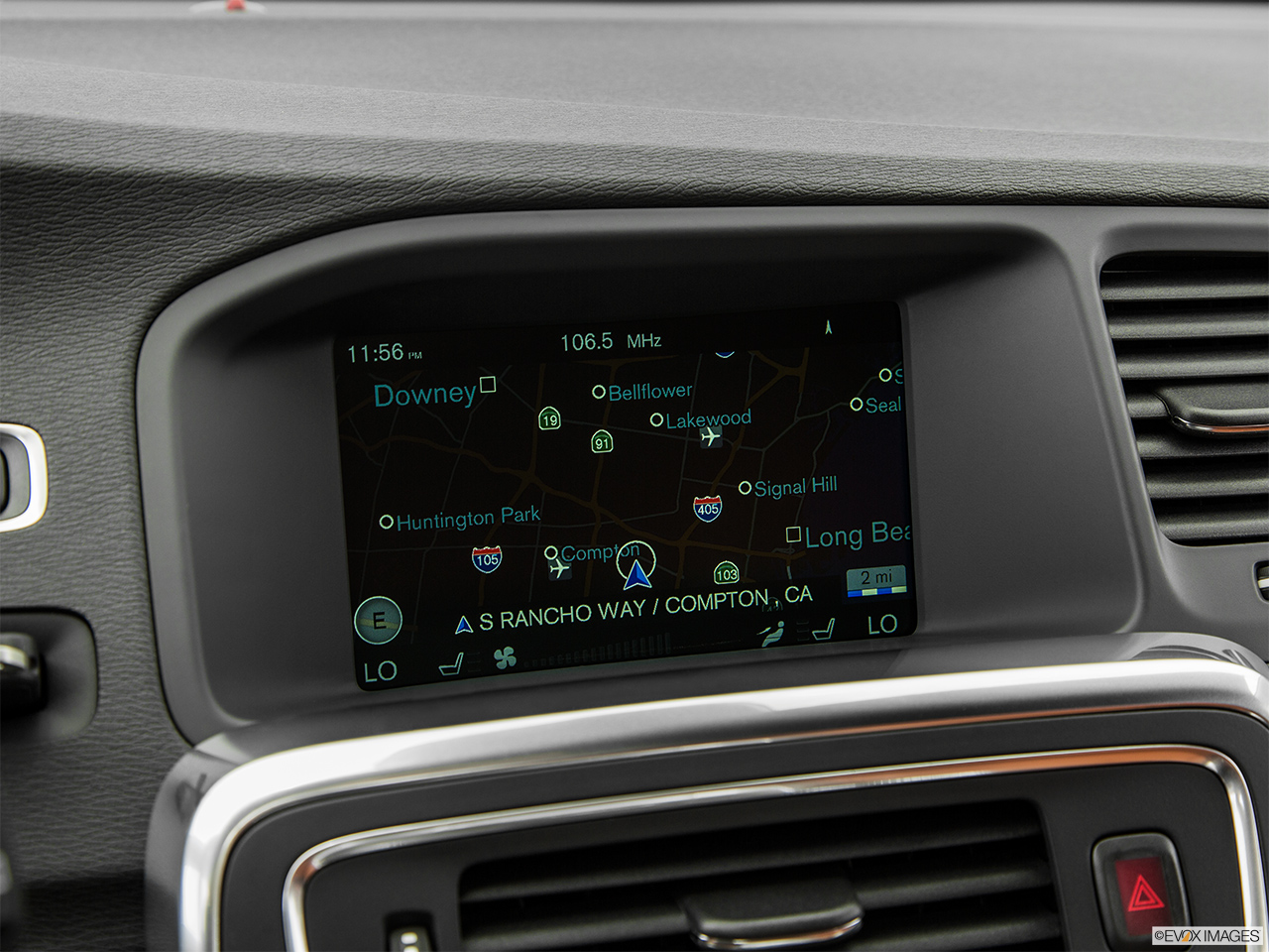 2015 Volvo V60 Cross Country T5 AWD Driver position view of navigation system.