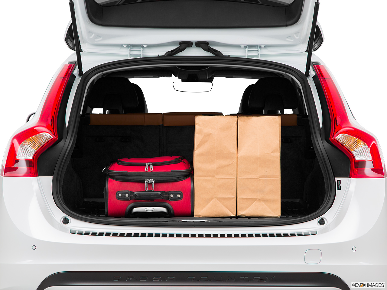 2015 Volvo V60 Cross Country T5 AWD Trunk props.
