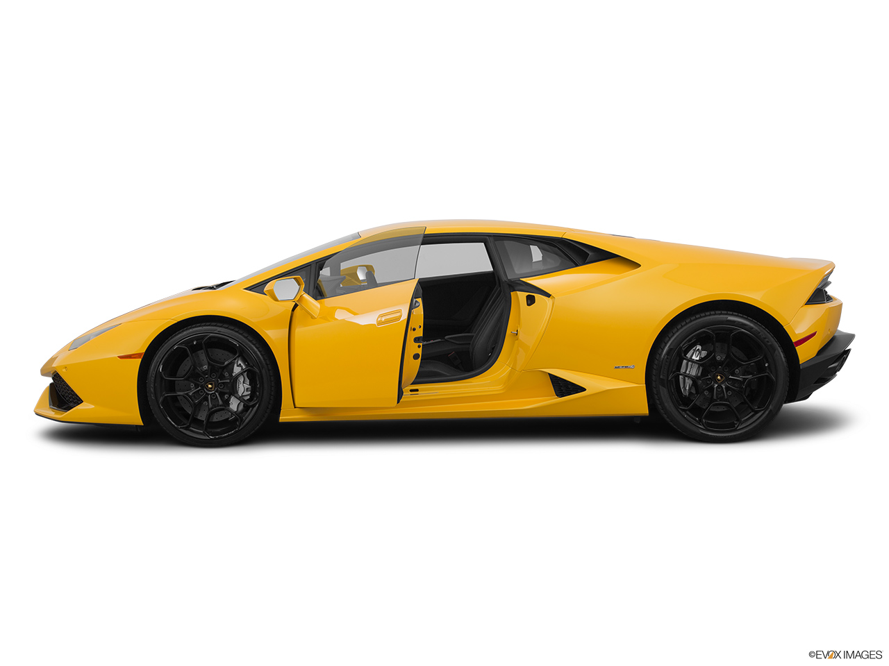 2015 Lamborghini Huracan LP 610-4 Driver's side profile with drivers side door open.
