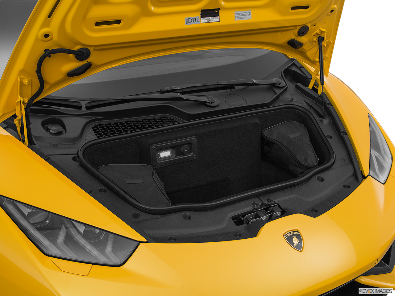 2015 Lamborghini Huracan LP 610-4 Trunk open.