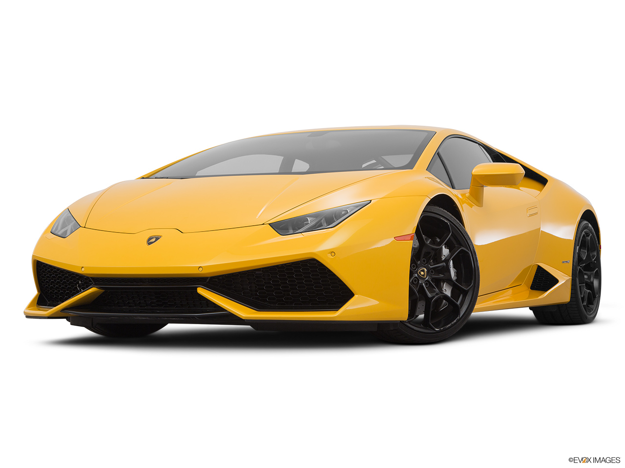 2015 Lamborghini Huracan LP 610-4 Front angle view, low wide perspective.