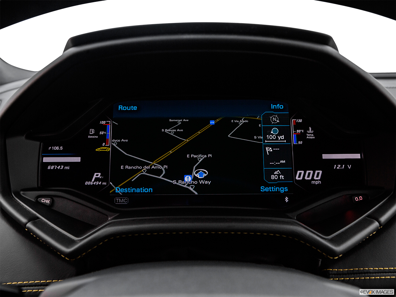 2015 Lamborghini Huracan LP 610-4 Driver position view of navigation system.