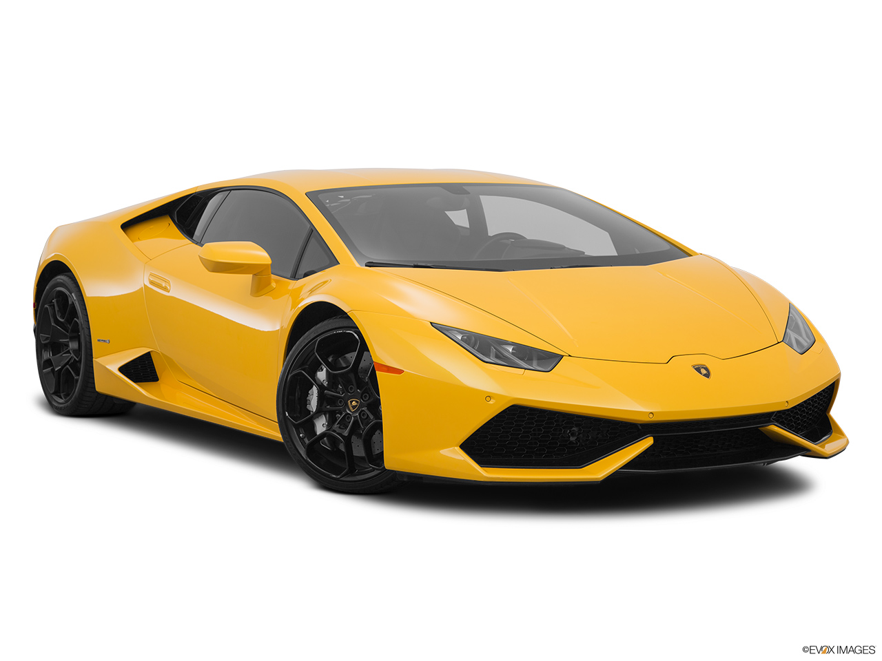 2015 Lamborghini Huracan LP 610-4 Front passenger 3/4 w/ wheels turned.