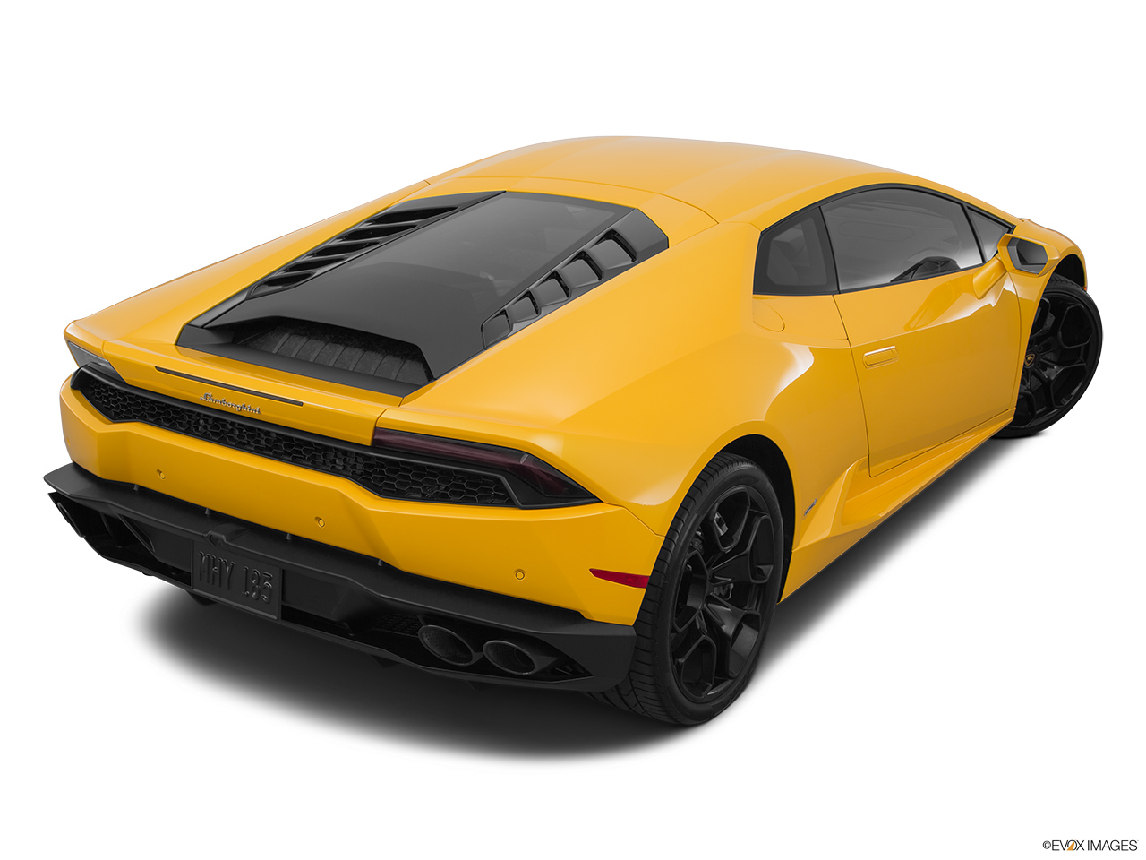 2015 Lamborghini Huracan LP 610-4 Rear 3/4 angle view.