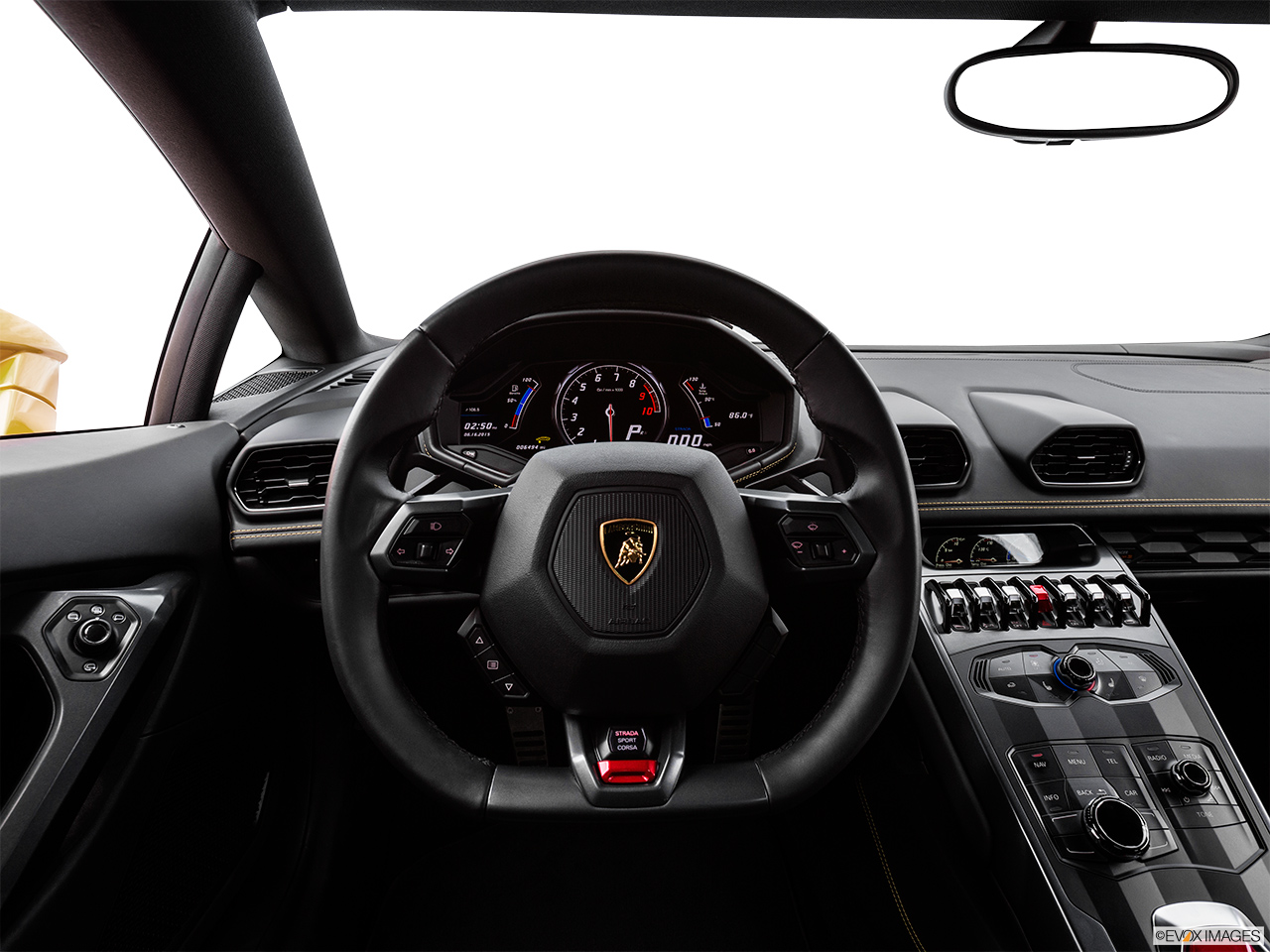 2015 Lamborghini Huracan LP 610-4 Steering wheel/Center Console.