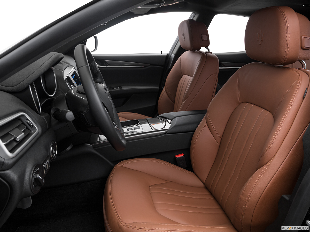 2015 Maserati Ghibli Base Front seats from Drivers Side.
