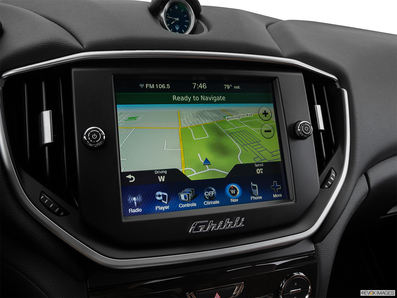 2015 Maserati Ghibli Base Driver position view of navigation system.