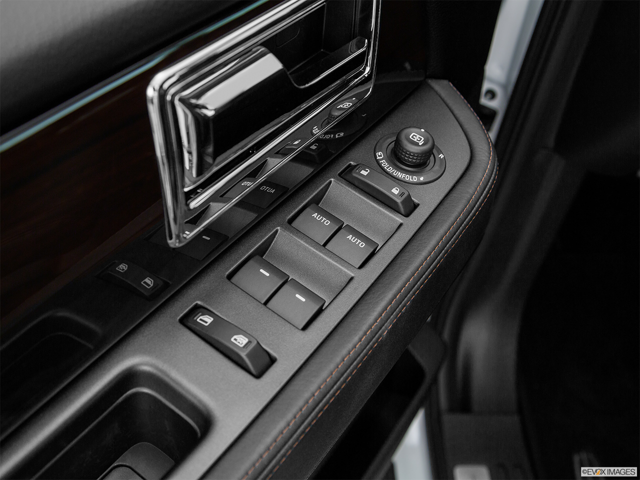 2016 Lincoln Navigator Reserve Driver's side inside window controls.