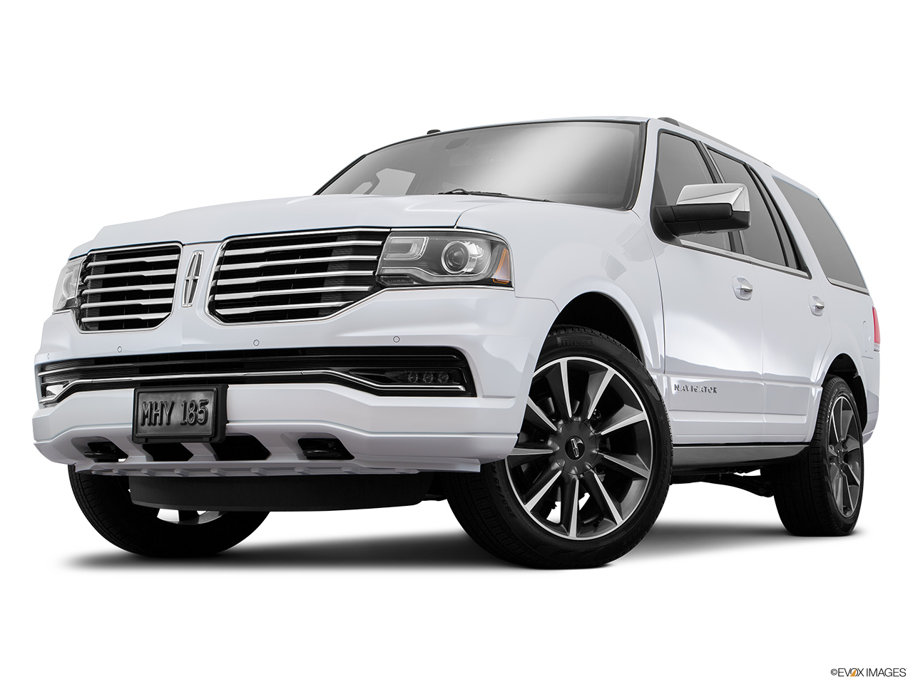 2016 Lincoln Navigator Reserve Front angle view, low wide perspective.