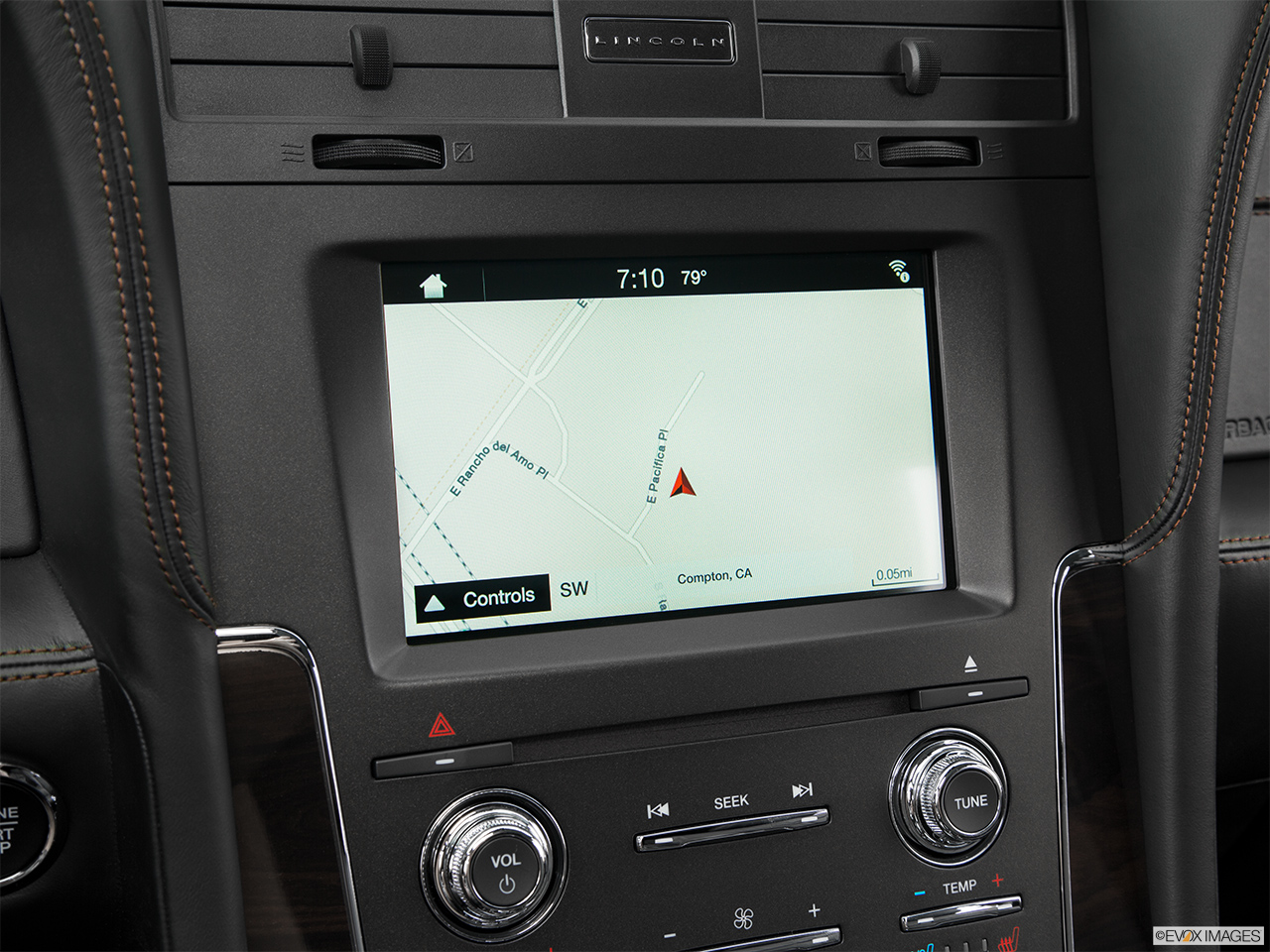 2016 Lincoln Navigator Reserve Driver position view of navigation system.