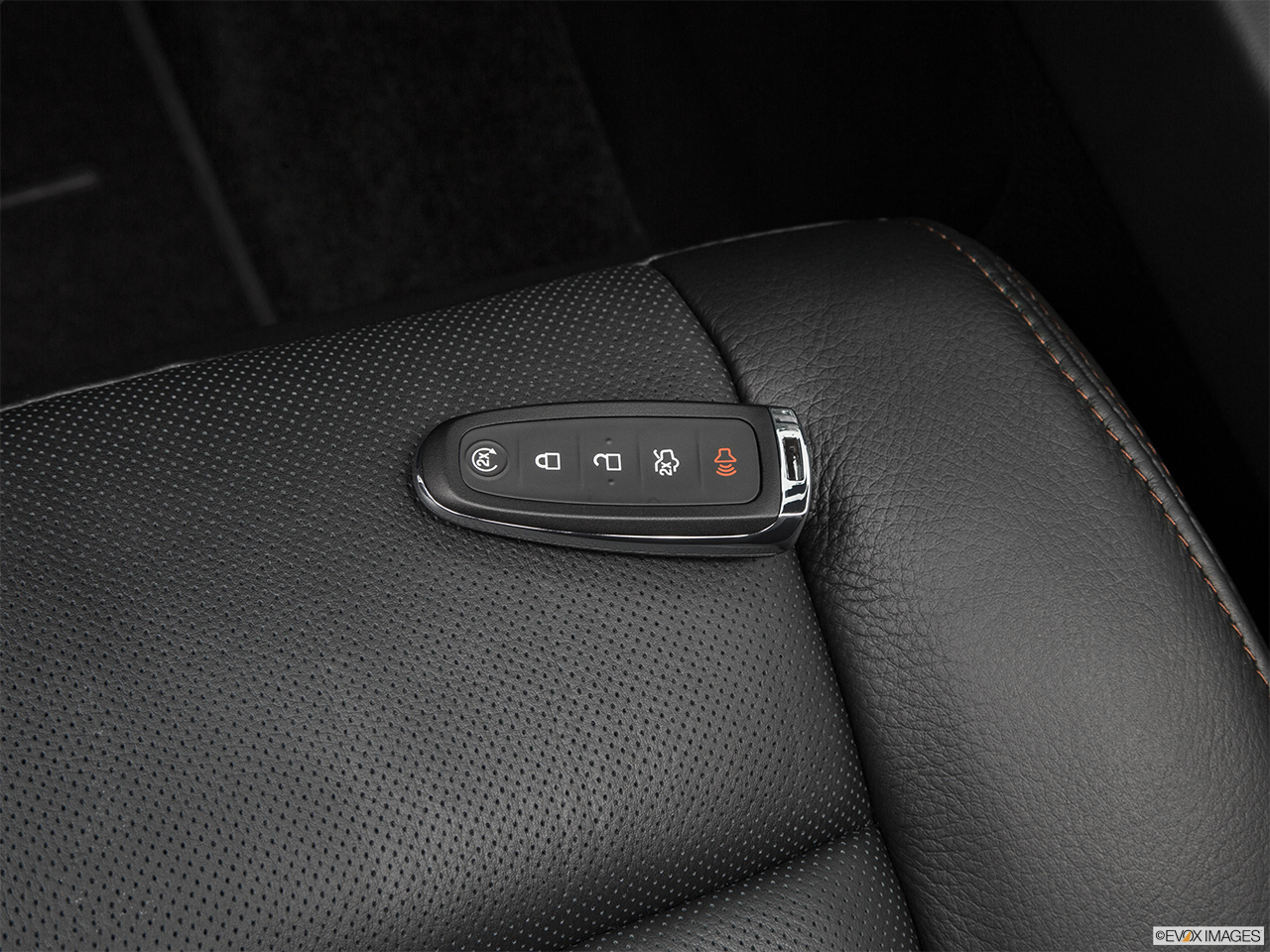 2016 Lincoln Navigator Reserve Key fob on driver's seat.