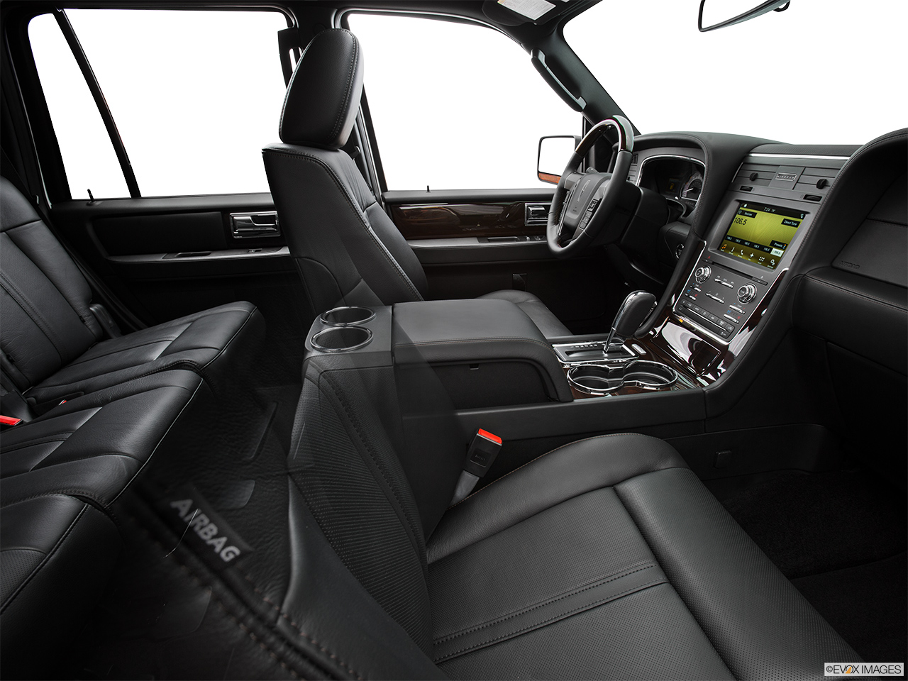 2016 Lincoln Navigator Reserve Fake Buck Shot - Interior from Passenger B pillar.