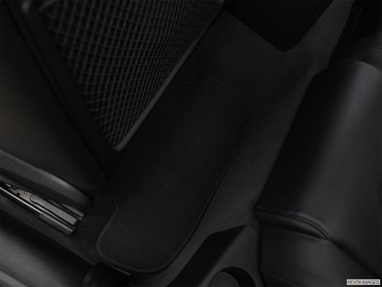 2017 Audi A5 Sport 2.0 TFSI Rear driver's side floor mat. Mid-seat level from outside looking in.