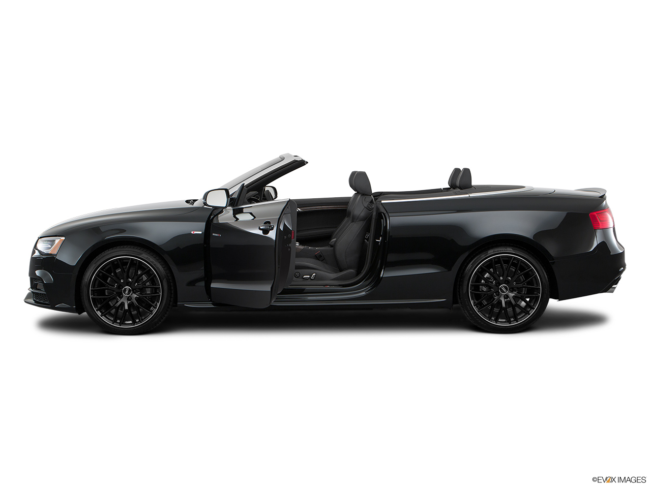 2017 Audi A5 Sport Cabriolet 2.0 TFSI Driver's side profile with drivers side door open.