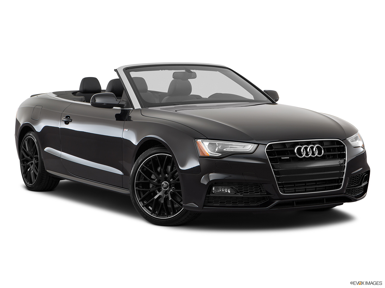 2017 Audi A5 Sport Cabriolet 2.0 TFSI Front passenger 3/4 w/ wheels turned.