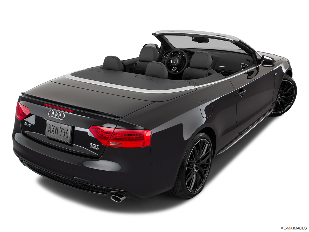 2017 Audi A5 Sport Cabriolet 2.0 TFSI Rear 3/4 angle view.