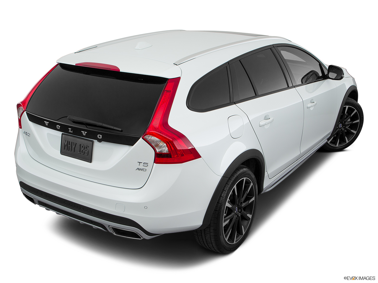 2018 Volvo V60 Cross Country T5 AWD Rear 3/4 angle view.