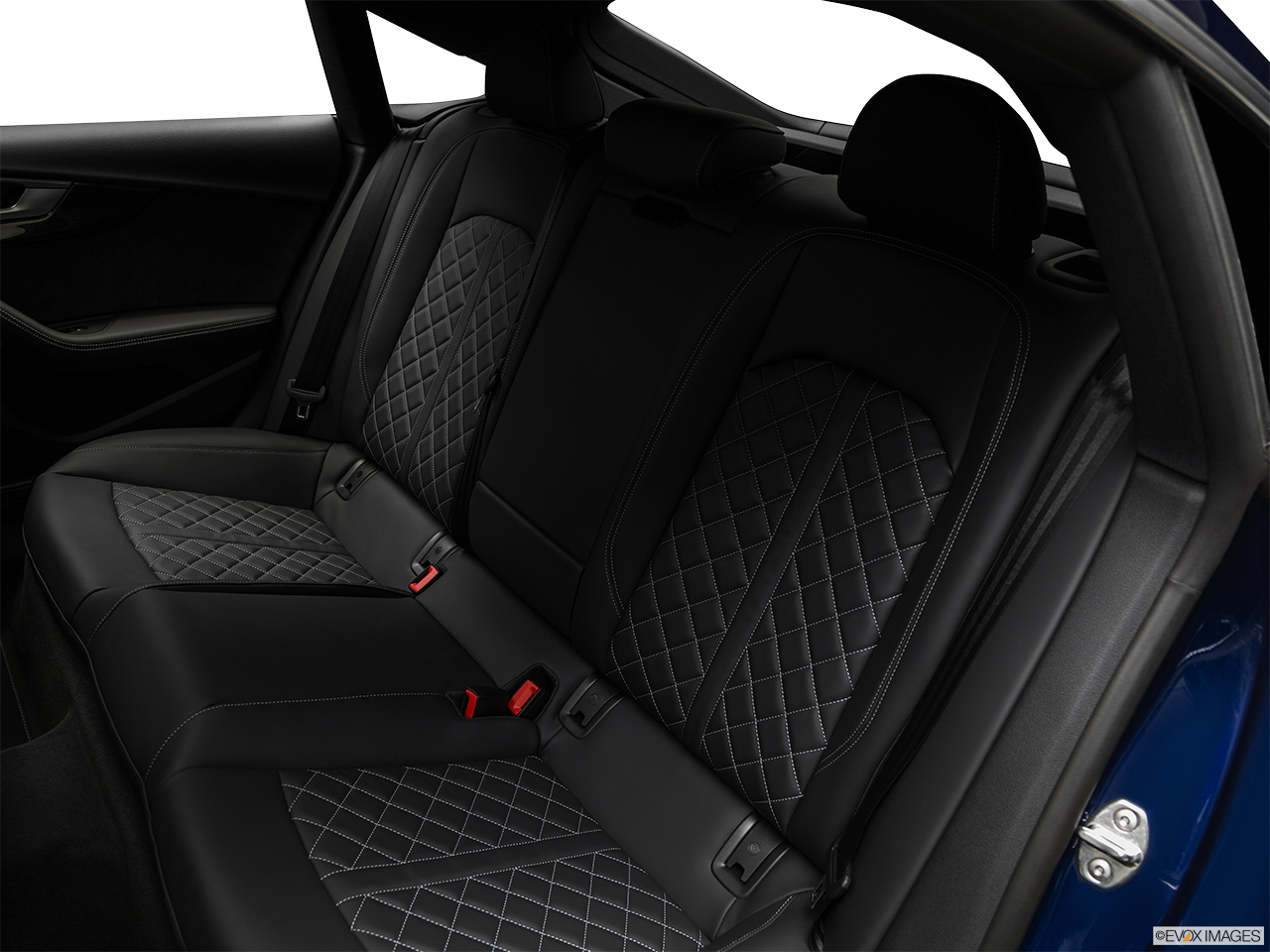 2019 Audi S5 Sportback Premium Plus 3.0 TFSI Rear seats from Drivers Side.