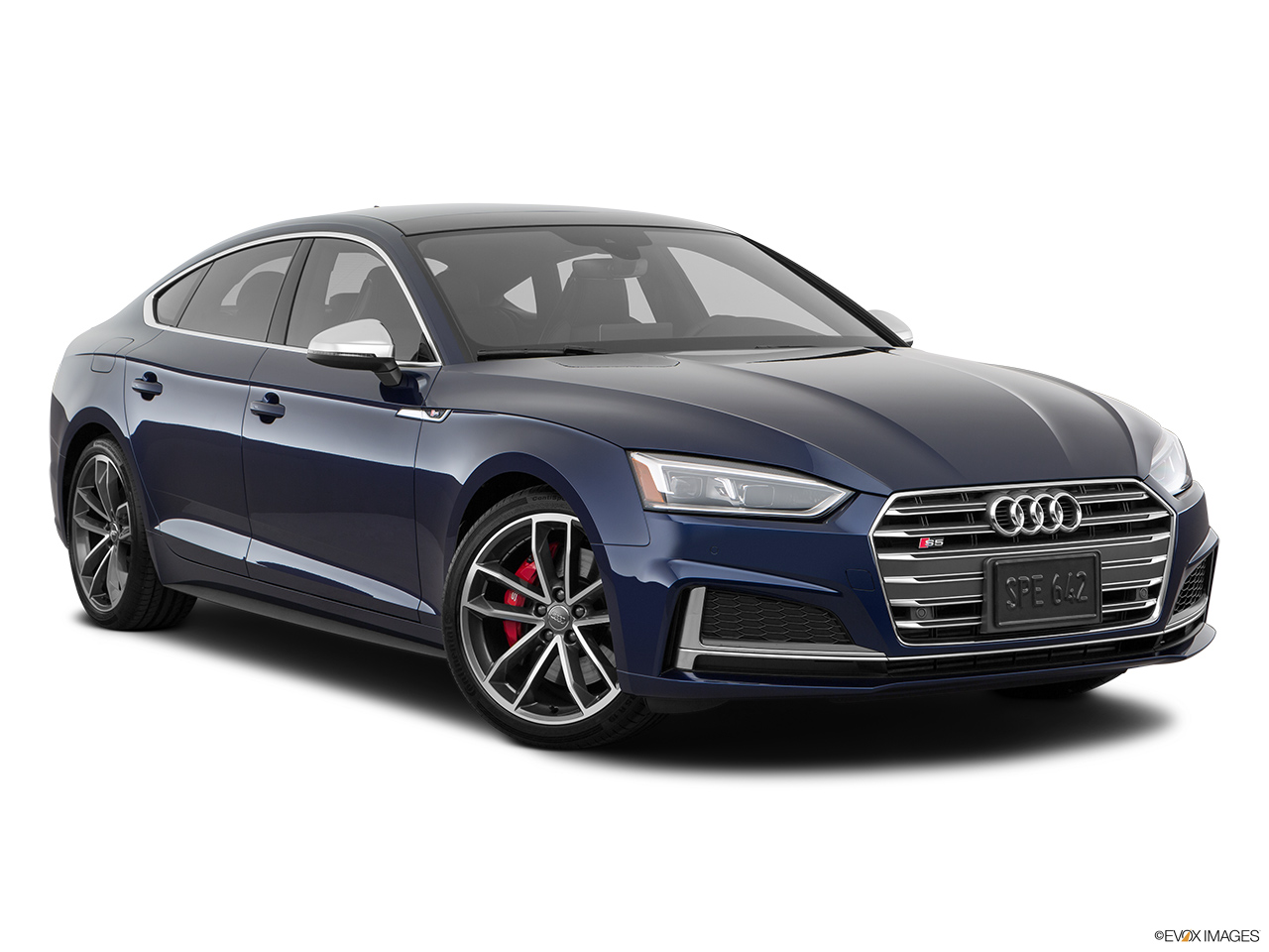 2019 Audi S5 Sportback Premium Plus 3.0 TFSI Front passenger 3/4 w/ wheels turned.