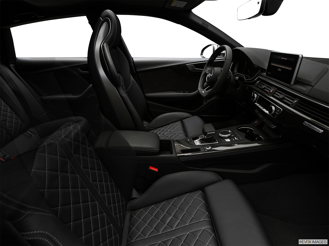2019 Audi S5 Sportback Premium Plus 3.0 TFSI Fake Buck Shot - Interior from Passenger B pillar.