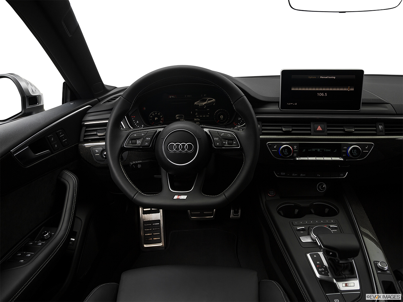 2019 Audi S5 Sportback Premium Plus 3.0 TFSI Steering wheel/Center Console.