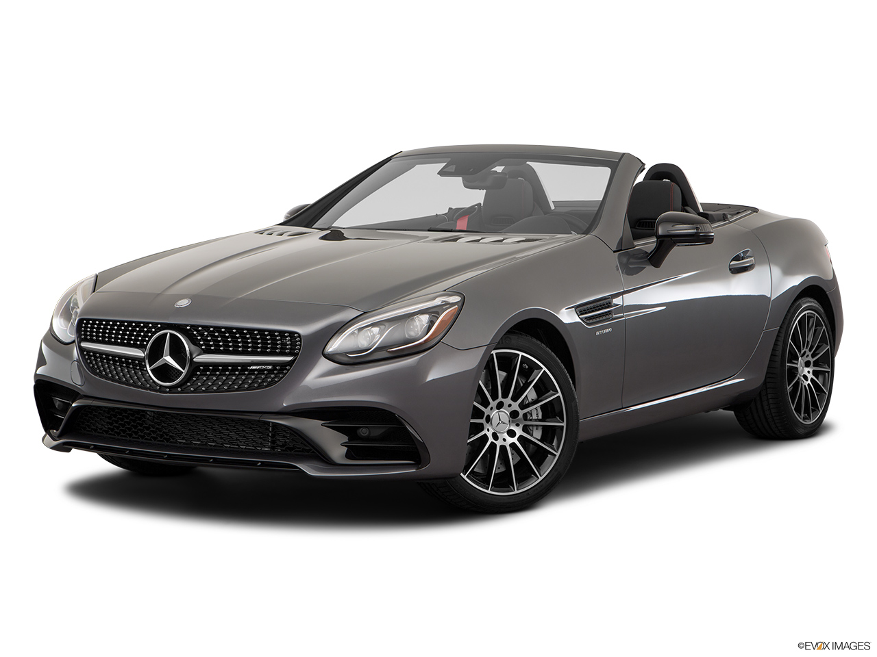2019 Mercedes-Benz SLC-class SLC43 AMG Front angle medium view.
