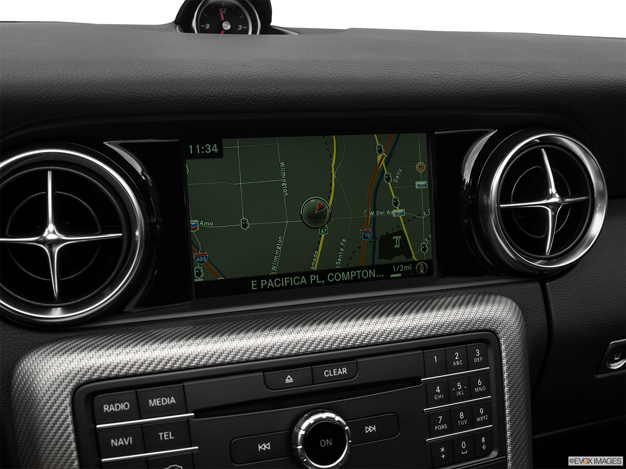 2019 Mercedes-Benz SLC-class SLC43 AMG Driver position view of navigation system.