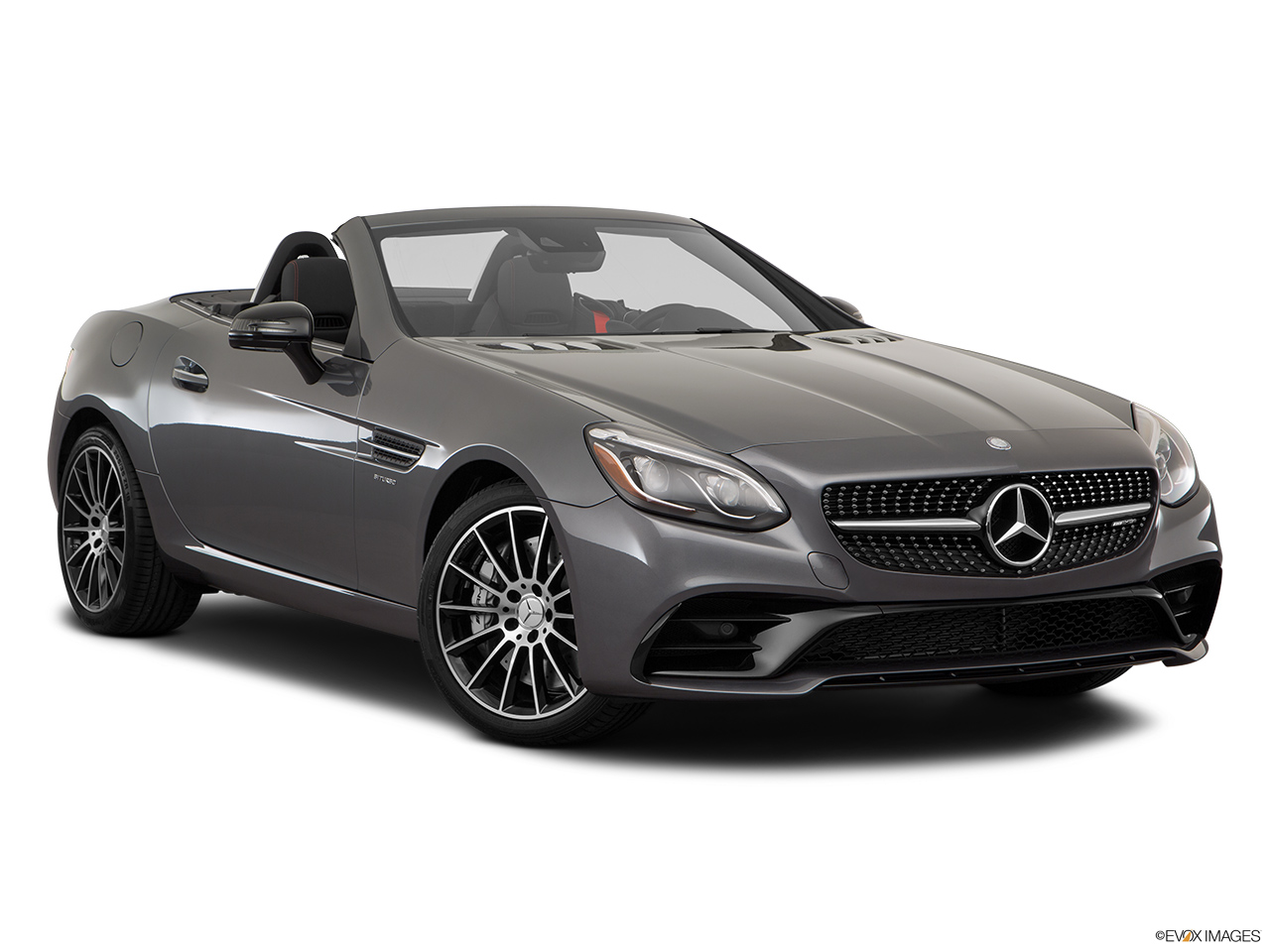 2019 Mercedes-Benz SLC-class SLC43 AMG Front passenger 3/4 w/ wheels turned.
