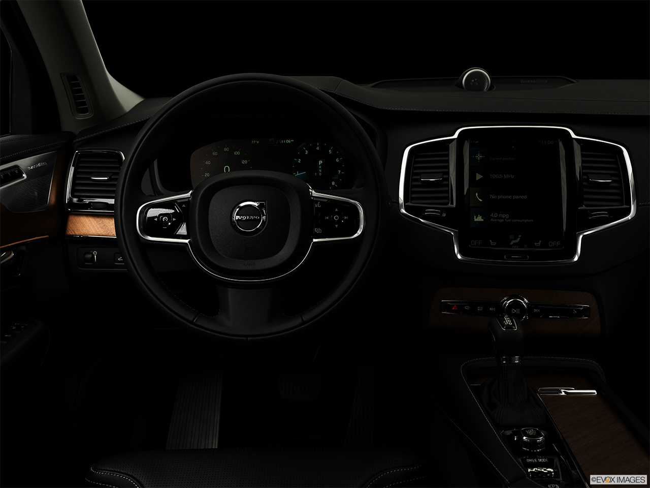"2019 Volvo XC90  T6 Inscription Centered wide dash shot - ""night"" shot."