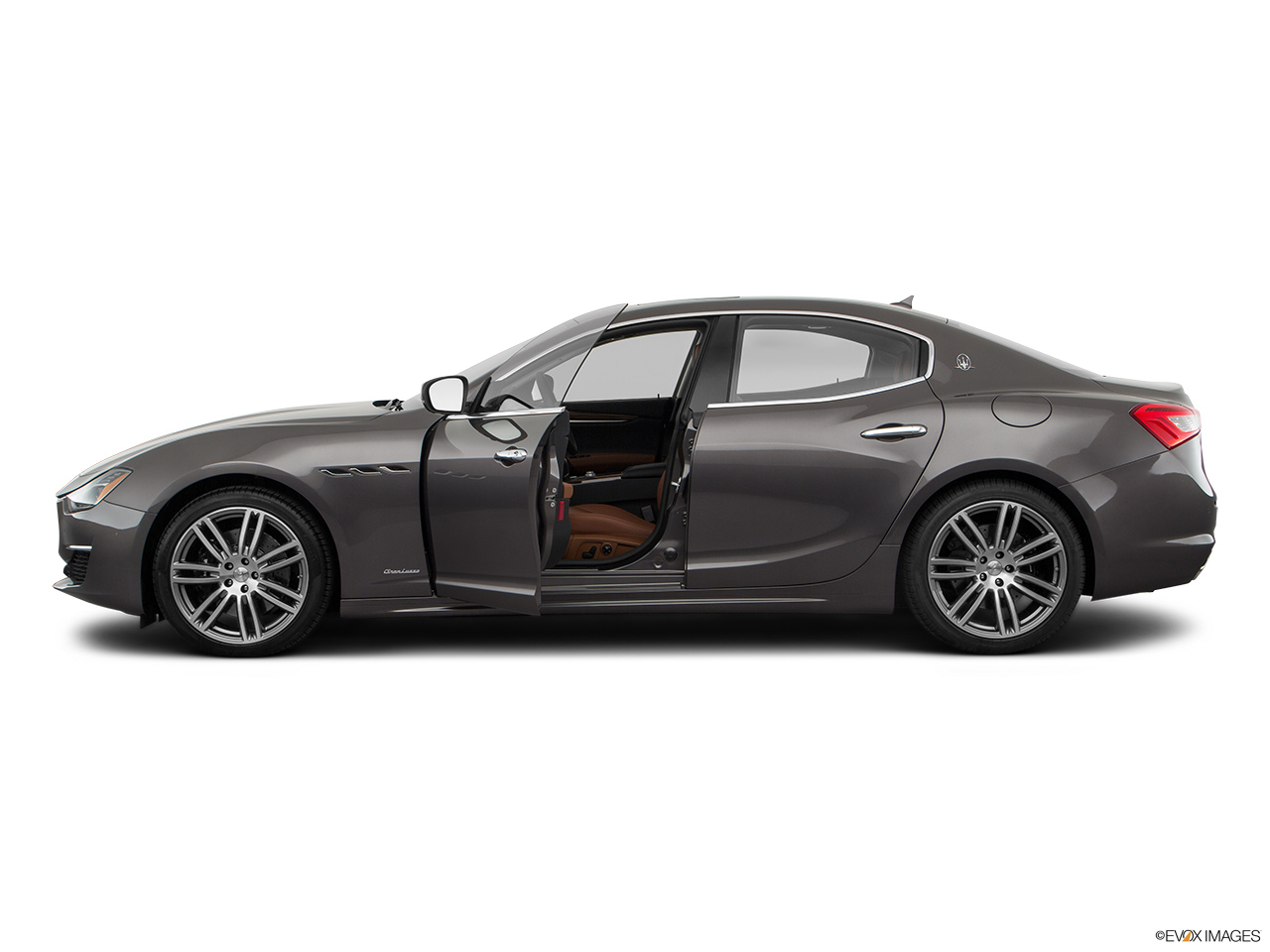 2018 Maserati Ghibli  S Granlusso Driver's side profile with drivers side door open.