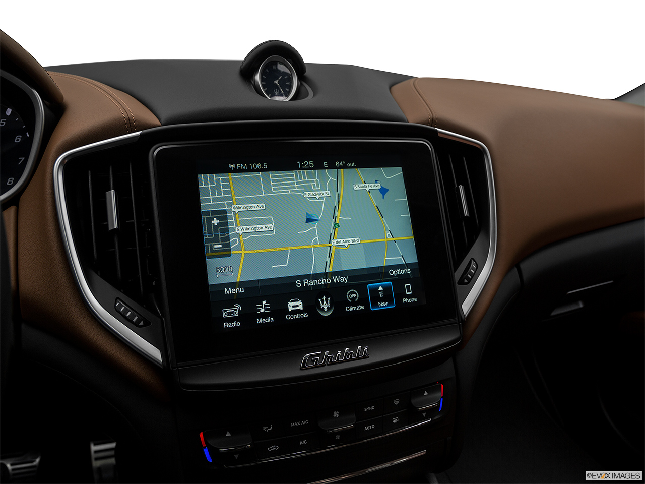 2018 Maserati Ghibli  S Granlusso Driver position view of navigation system.