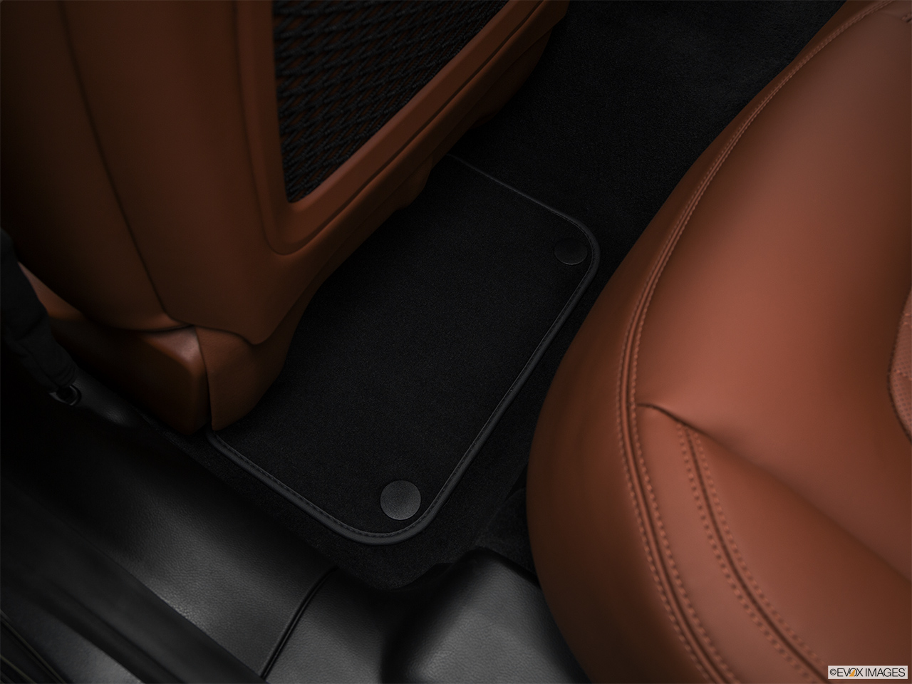 2018 Maserati Ghibli  S Granlusso Rear driver's side floor mat. Mid-seat level from outside looking in.