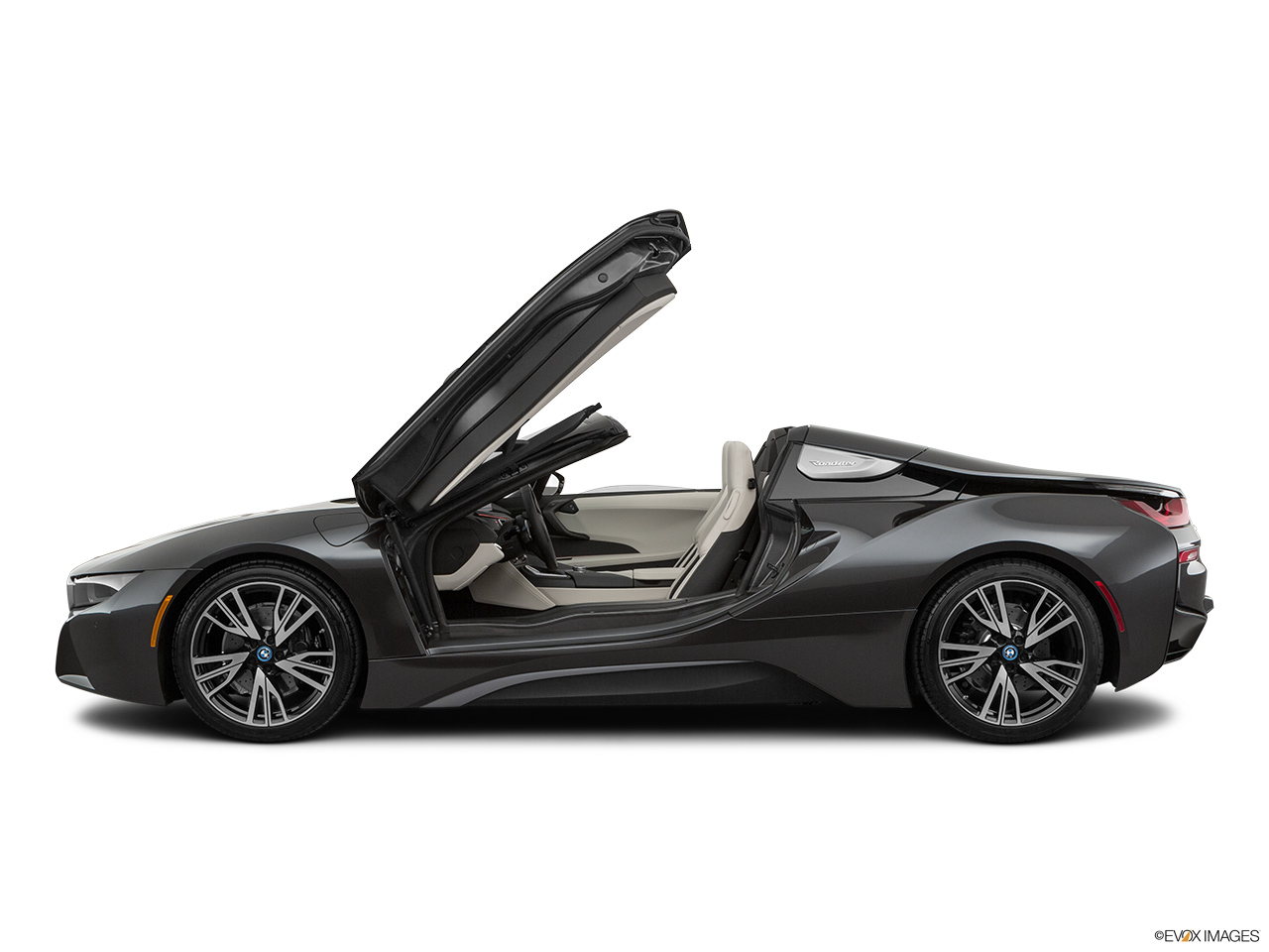2019 BMW i8 Roadster Standard World Driver's side profile with drivers side door open.