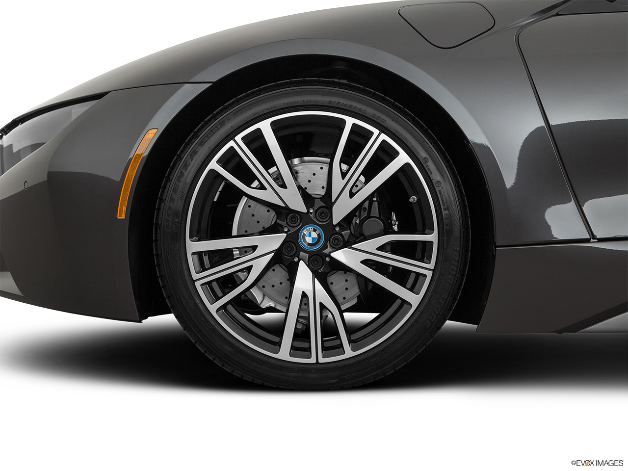 2019 BMW i8 Roadster Standard World Front Drivers side wheel at profile.