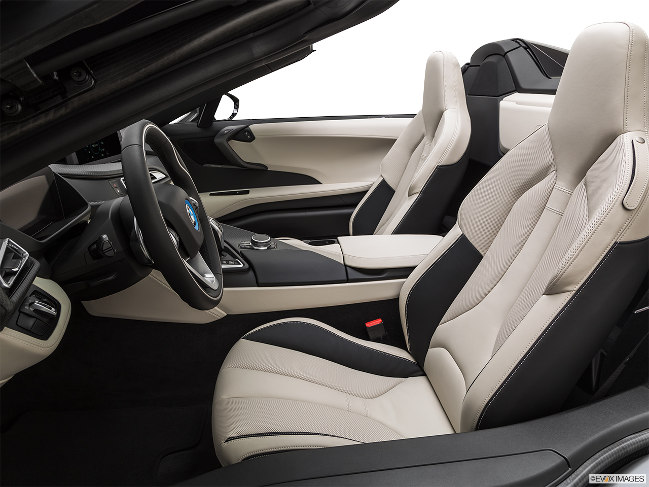 2019 BMW i8 Roadster Standard World Front seats from Drivers Side.