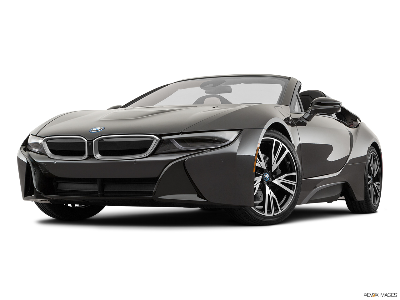 2019 BMW i8 Roadster Standard World Front angle view, low wide perspective.