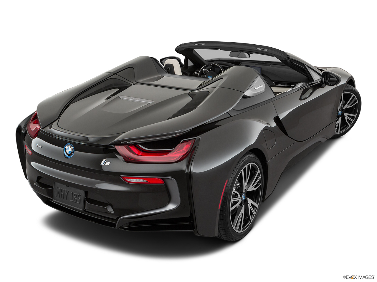 2019 BMW i8 Roadster Standard World Rear 3/4 angle view.