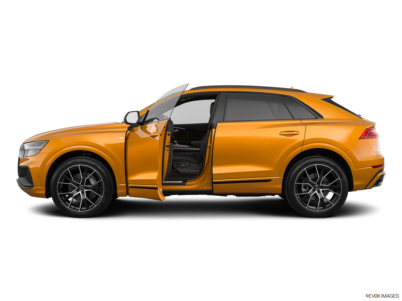 2019 Audi Q8 Prestige 3.0 TFSI Driver's side profile with drivers side door open.