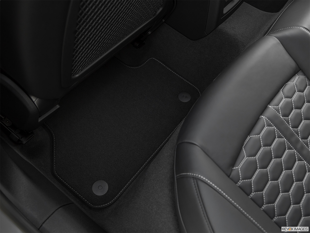 2019 Audi RS 5 Sportback 2.9 TFSI Rear driver's side floor mat. Mid-seat level from outside looking in.