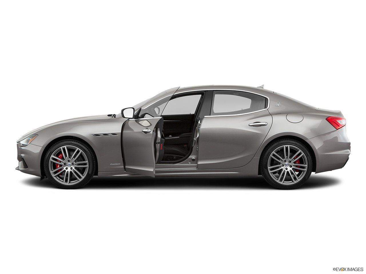 2019 Maserati Ghibli S Gransport Driver's side profile with drivers side door open.
