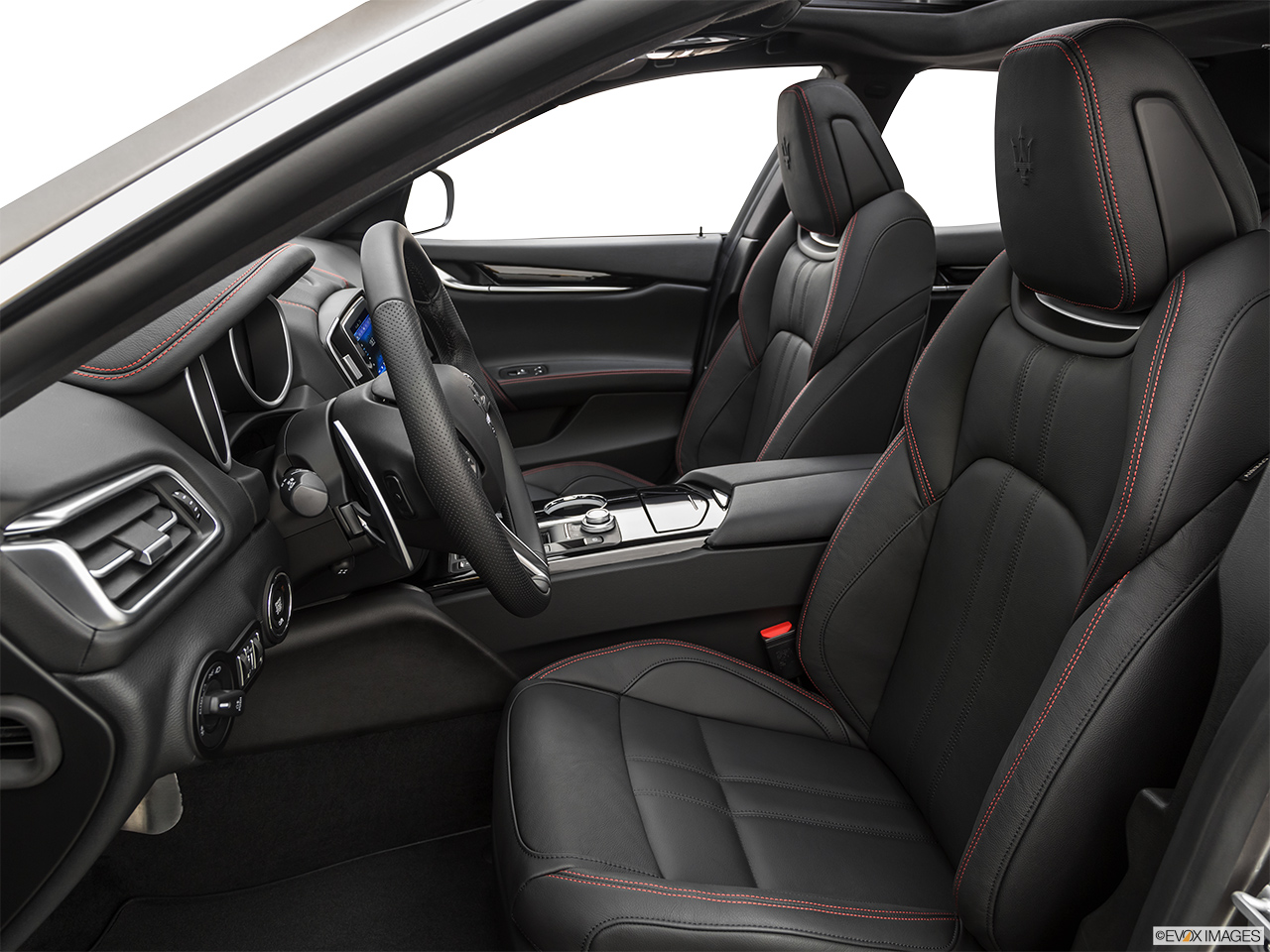 2020 Maserati Ghibli S Gransport Front seats from Drivers Side.