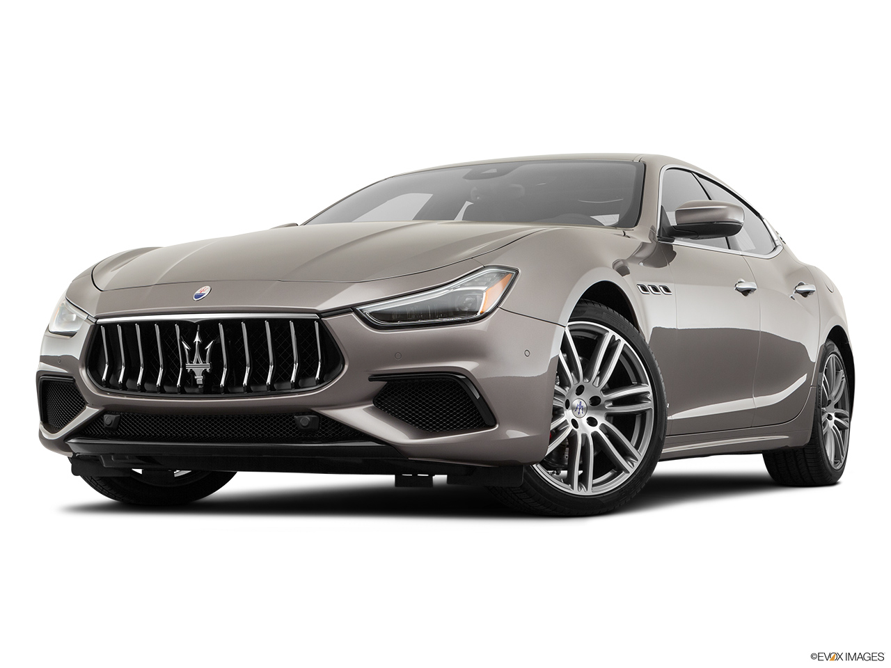 2020 Maserati Ghibli S Gransport Front angle view, low wide perspective.