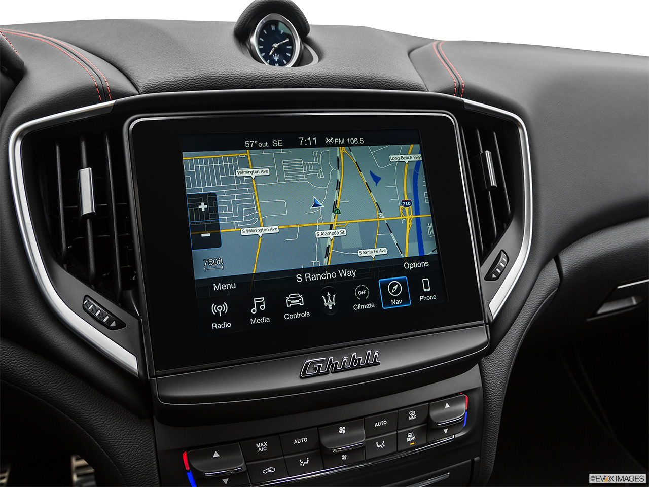 2020 Maserati Ghibli S Gransport Driver position view of navigation system.