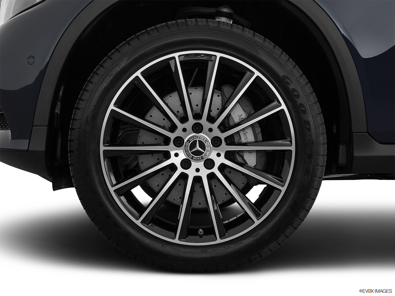 2019 Mercedes-Benz GLC-Class Coupe GLC 300 4MATIC Front Drivers side wheel at profile.