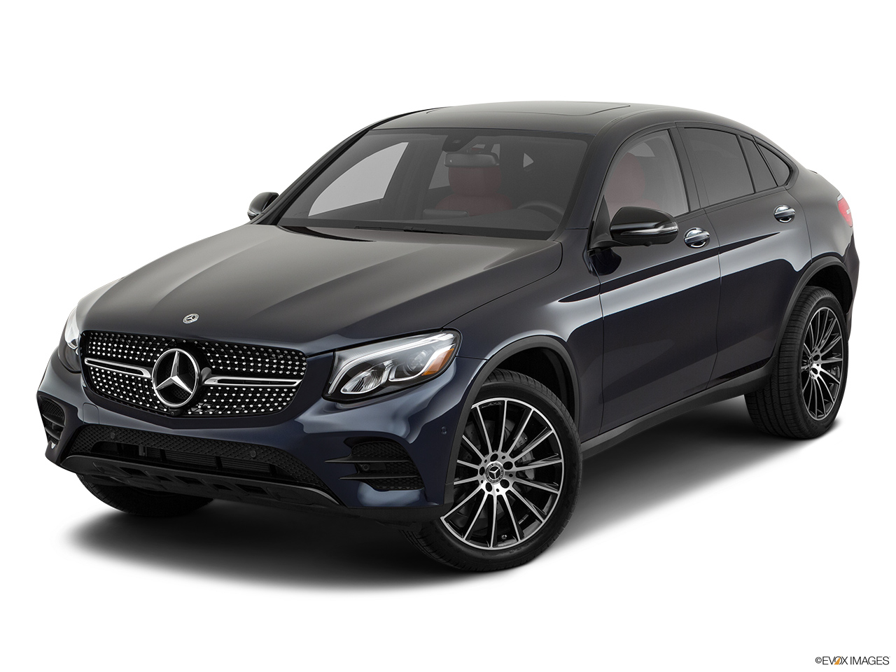 2019 Mercedes-Benz GLC-Class Coupe GLC 300 4MATIC Front angle view.
