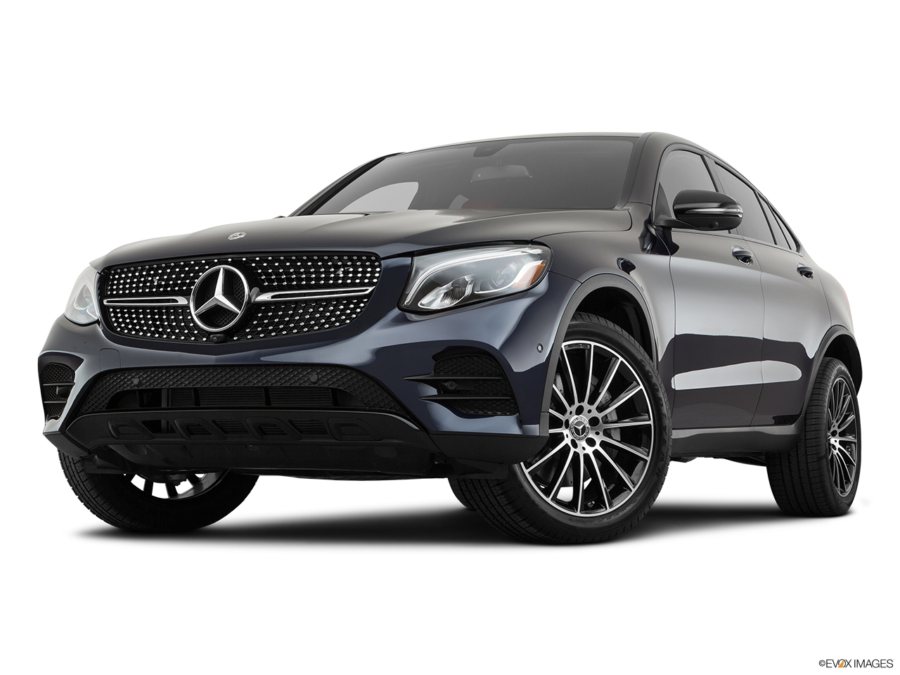 2019 Mercedes-Benz GLC-Class Coupe GLC 300 4MATIC Front angle view, low wide perspective.