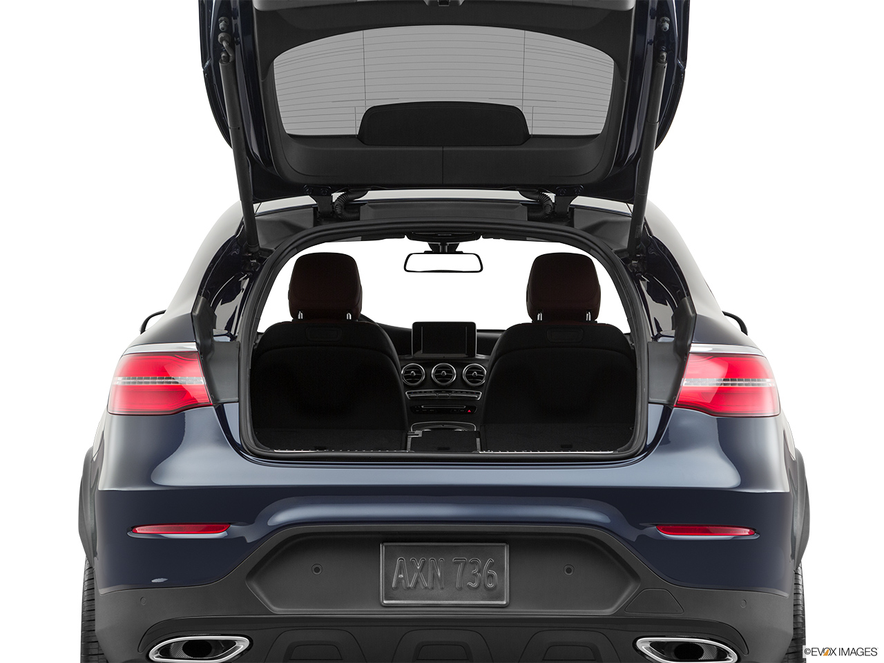 2019 Mercedes-Benz GLC-Class Coupe GLC 300 4MATIC Hatchback & SUV rear angle.